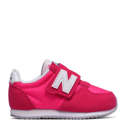 New Balance Infant Pink Hook and Loop Sneakers