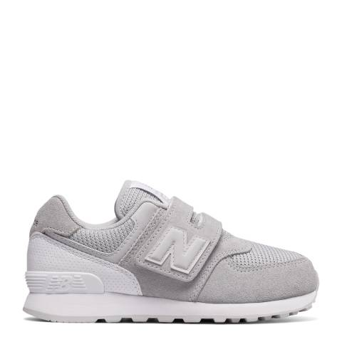 New Balance Grey Hook and Loop Sneakers