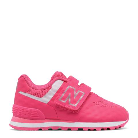 New Balance Infant Pink Hook and Loop Shoe