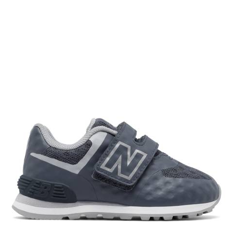 New Balance Infant Grey Hook and Loop Shoe