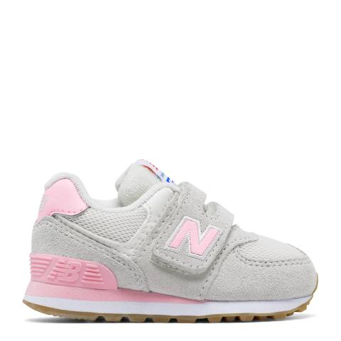 New Balance White/Pink Shoes