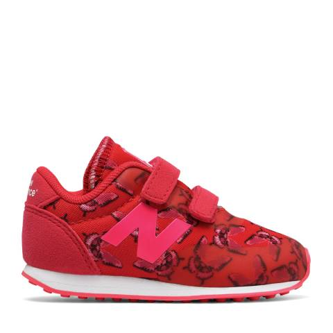 New Balance Infant Red Butterfly Sneakers