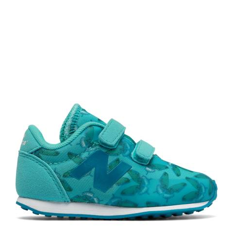 New Balance Infant Turquoise Butterfly Sneakers