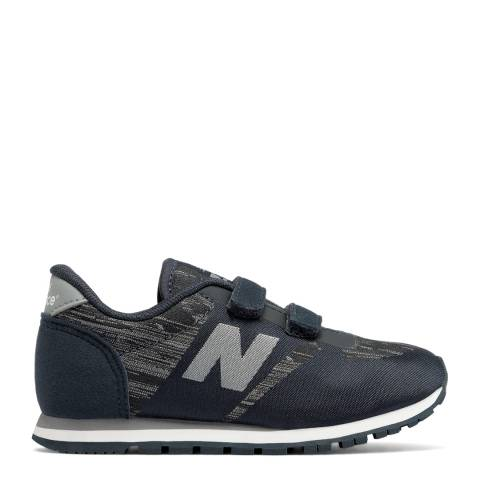 New Balance Black Hook and Loop Sneakers