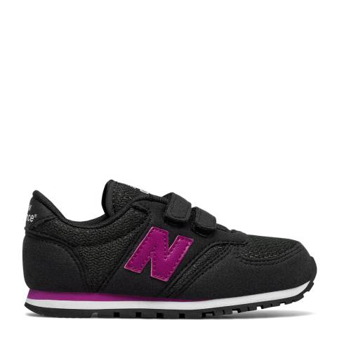 New Balance Infant Black/Purple Sneakers