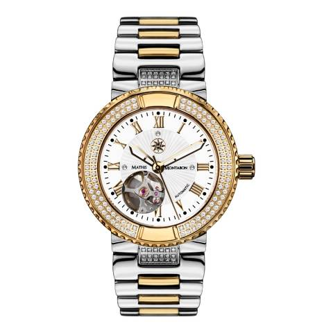 Mathis Montabon Womens Gold/Silver Bicolor Reveuse Watch
