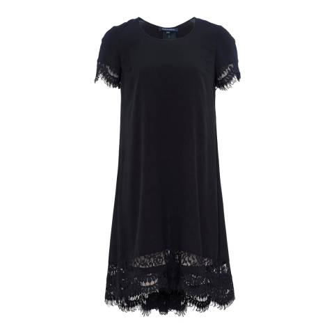 French Connection Black/Nocturnal Classic Crepe And Lace Dress