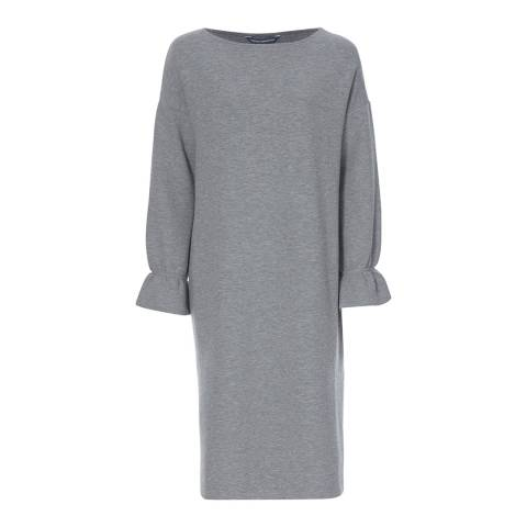 French Connection Grey Ellen Textured Long Sleeve Dress