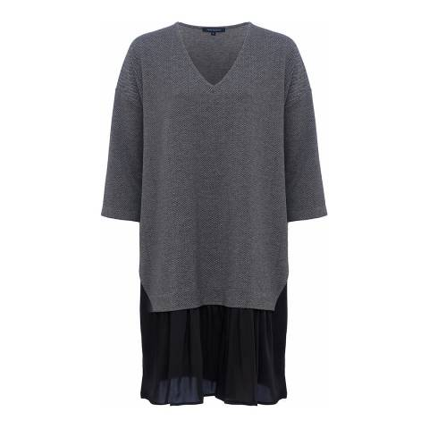 French Connection Grey Estella Jersey Tunic Dress