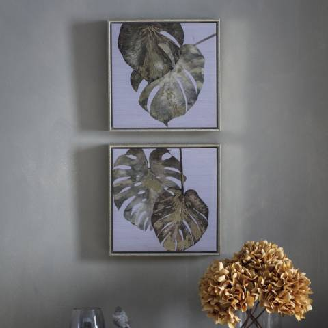 Gallery Set of 2 Tropical Monstera Framed Art