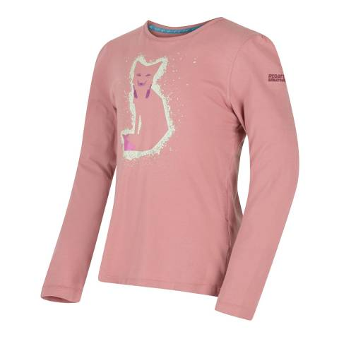 Regatta Pink Whiteshaw Long Sleeve T-shirt