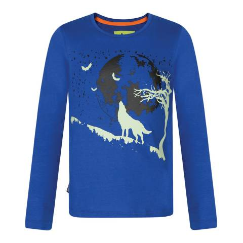 Regatta Blue Whiteshaw Long Sleeve T-shirt