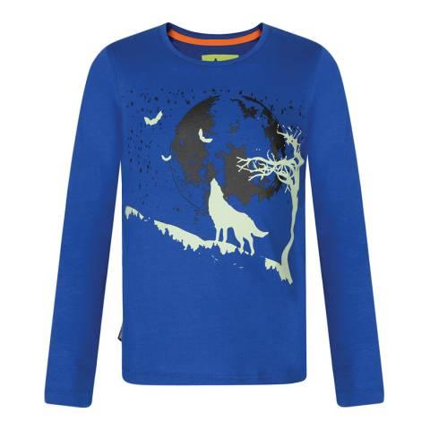 Regatta Blue Whiteshaw Long Sleeve T-shirt