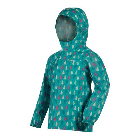 Regatta Blue Printed PackIt Waterproof Jacket