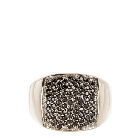Stephen Oliver Silver/Black Zirconia Ring