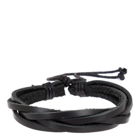 Stephen Oliver Multi Black Leather Bracelet