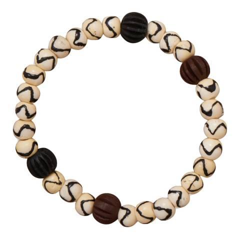 Stephen Oliver Bone and Wood Bracelet