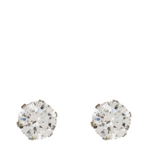 Stephen Oliver Silver Zirconia Stud Earrings