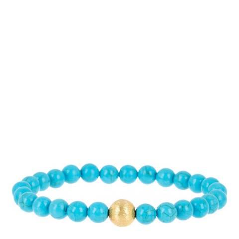 Stephen Oliver Gold/Silver Turquoise Bracelet