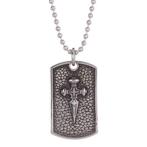 Stephen Oliver Silver Sword Dog Tag Necklace
