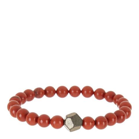 Stephen Oliver Red Jasper & Geometric Gemstone Bracelet