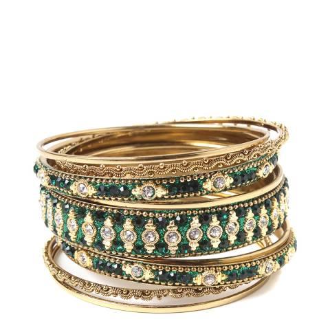 Amrita Singh Emerald Green Bangles Keya Bangle Set