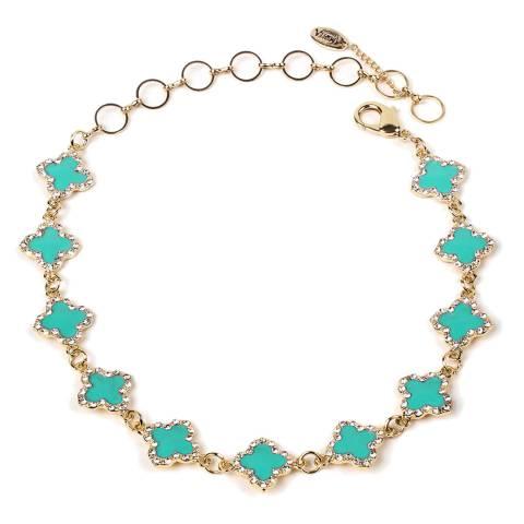 Amrita Singh Turquoise Noho Enamel Clover Choker/Collar