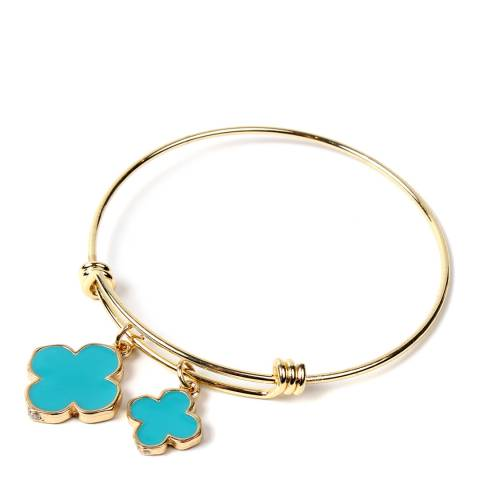 Amrita Singh Turquoise Bracelet Clover Enamel Bracelet