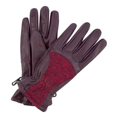 Regatta Women's Fig/Dark Purple Leather & Fleece Garabina Gloves