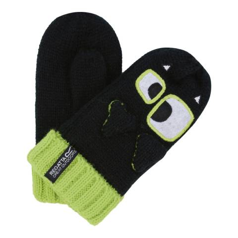 Regatta Kid's Black/LimeZs Gloves