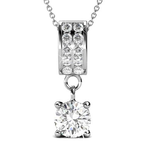 MUSAVENTURA Silver Crystal Pendant Necklace
