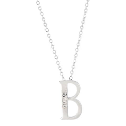 MUSAVENTURA Silver Crystal 'B' Necklace