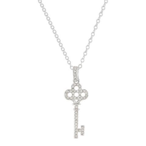 MUSAVENTURA Silver Crystal Key Necklace