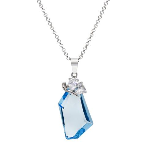 MUSAVENTURA Silver And Blue Crystal Necklace