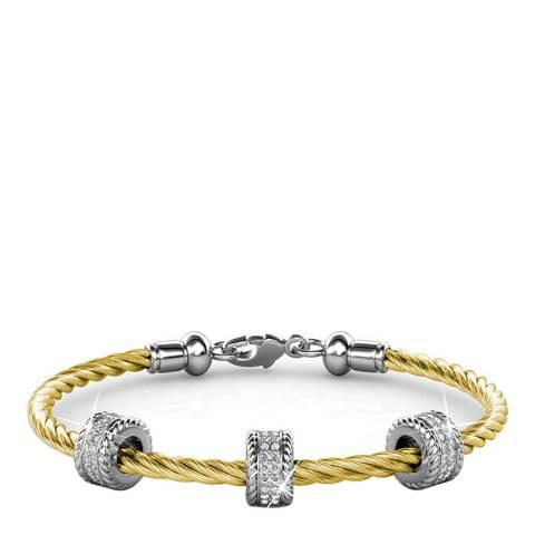 MUSAVENTURA Gold Crystal Charm Bracelet
