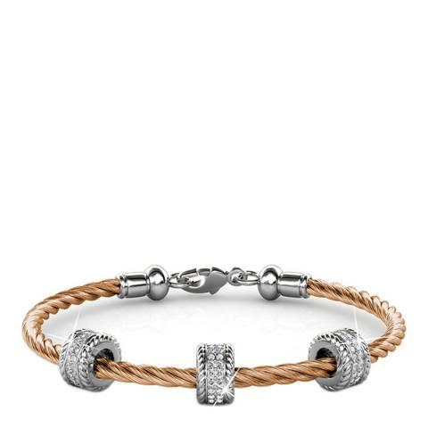 MUSAVENTURA Rose Gold Crystal Charm Bracelet