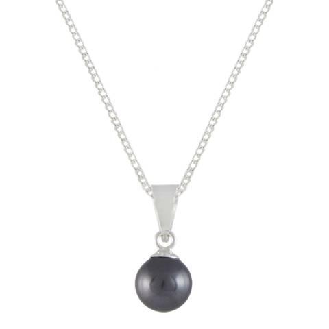 MUSAVENTURA Silver Black Pearl Necklace