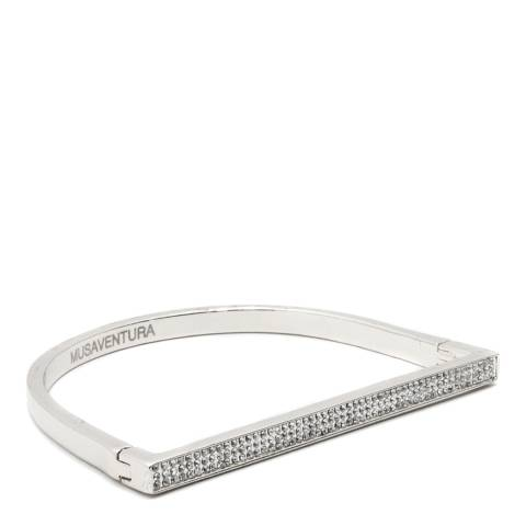 MUSAVENTURA Silver Divinity Crystal Bangle