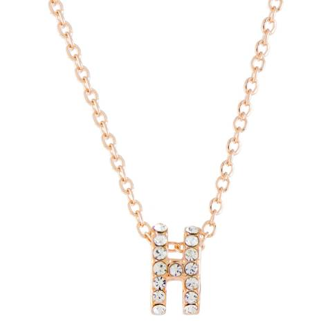 MUSAVENTURA Gold Crystal 'H' Necklace
