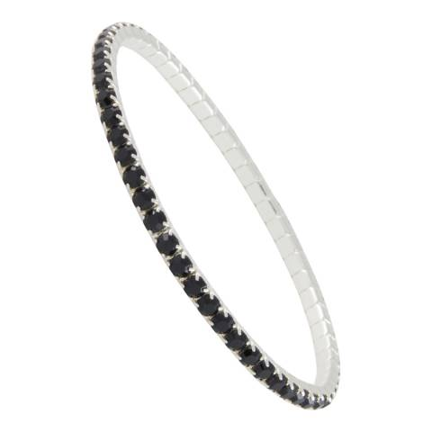 MUSAVENTURA Silver And Black Crystal Bracelet