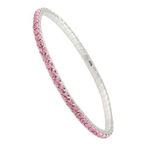 MUSAVENTURA Silver And Pink Crystal Bracelet