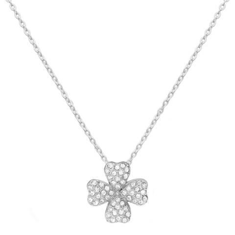 MUSAVENTURA Silver Clover Crystal Necklace