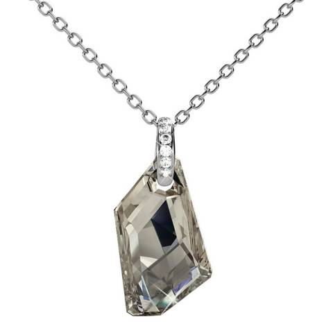 MUSAVENTURA Silver Crystal Jewel Necklace