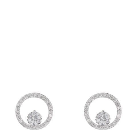 MUSAVENTURA Silver Circle Crystal Earrings