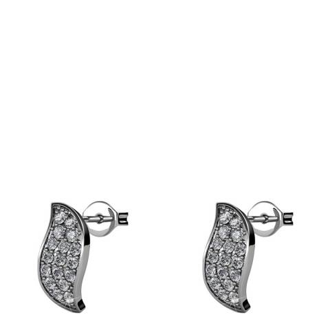 MUSAVENTURA Silver Crystal Earrings
