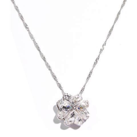 MUSAVENTURA Silver Lucky Clover Crystal Necklace
