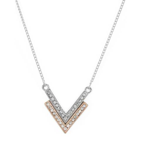 MUSAVENTURA Silver And Gold Crystal Arrow Necklace