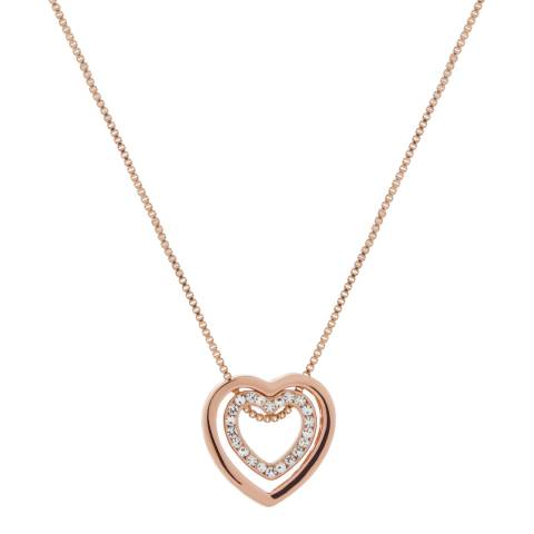 MUSAVENTURA Rose Gold Heart Crystal Necklace</li>