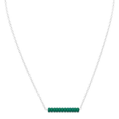 Alexa by Liv Oliver Emerald Gemstone Necklace