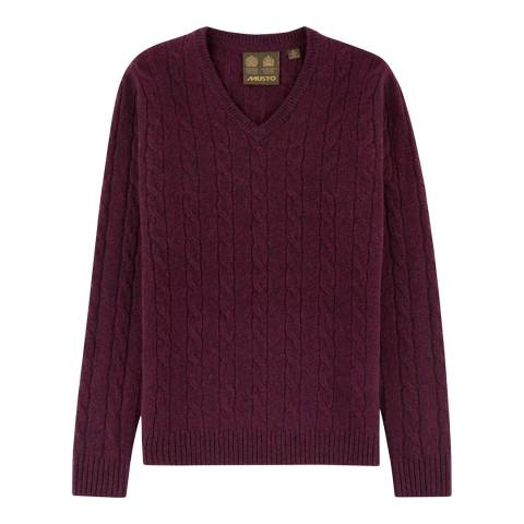 Musto Women's Damson Hollie Cable Neck Wool Wool Jumper